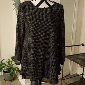 Black textured top